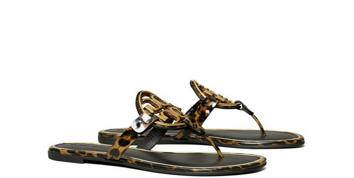 Miller Metal-Logo Sandal, Printed Patent Leather