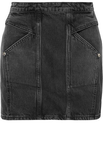 Adaptation - Denim Mini Skirt - Black