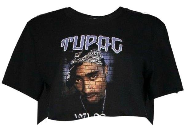 Tupac Black Crop Top
