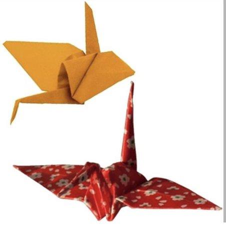 origami paper cranes