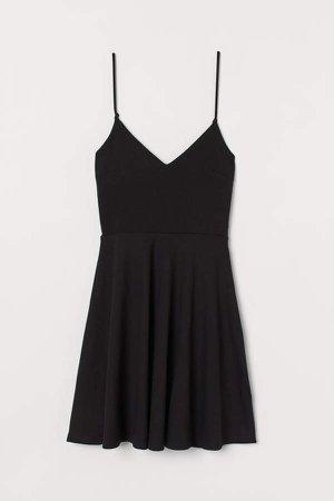 Tie-detail Dress - Black