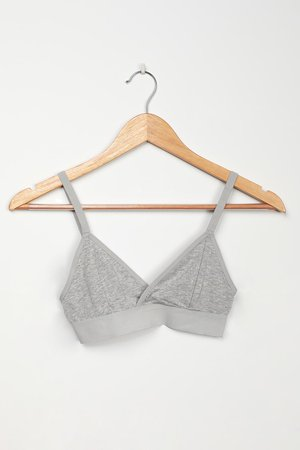 Richer Poorer Classic Bralette - Grey Bralette - Lounge Bra