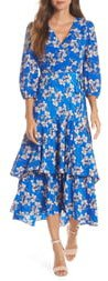 Faux Wrap Maxi Dress