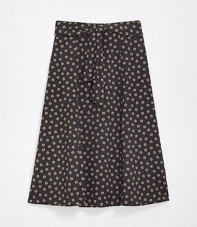 Petite Tie Waist Midi Skirt