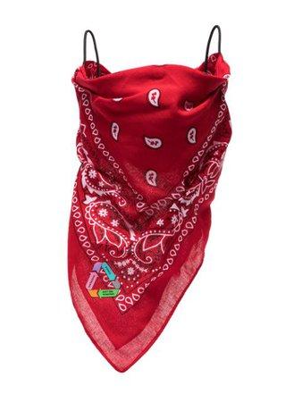 Natasha Zinko bandana print face mask red SS21DUO71219 - Farfetch