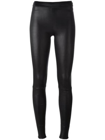 Drome Skinny Leather Pants DPD1017PD074 Black | Farfetch