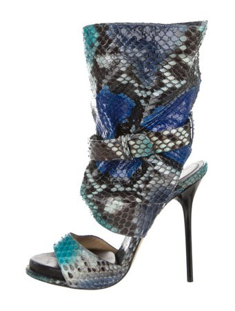 Paul Andrew Snakeskin Mid-Calf Sandals - Shoes - PAA22328 | The RealReal