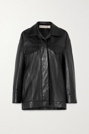 Marni | Oversized leather jacket | NET-A-PORTER.COM
