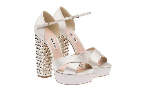 Miu Miu embellished sandals