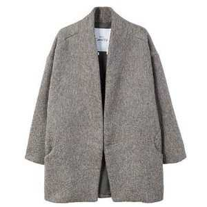 Texturised unstructured coat
