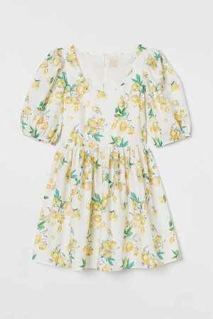 Patterned cotton dress   H&M
