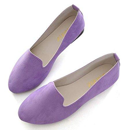 Amazon.com | Slduv7 Women Pointed Comfortable Flat Ballet Shoes Black 41(8.5) | Flats