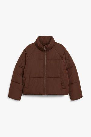 Puffer jacket - Brown - Jackets - Monki