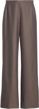The Row Roger High-Rise Wide-Leg Wool Pants