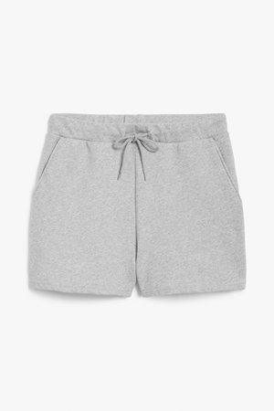 Jersey shorts - Grey - Shorts - Monki WW