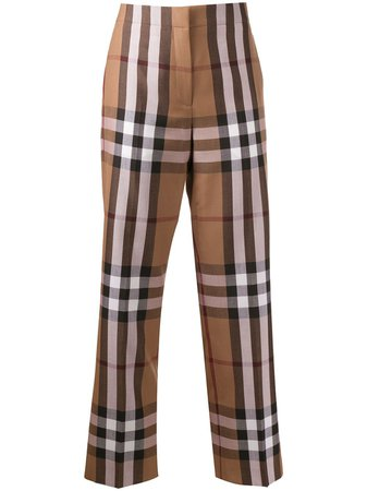 Burberry Check Print Trousers - Farfetch