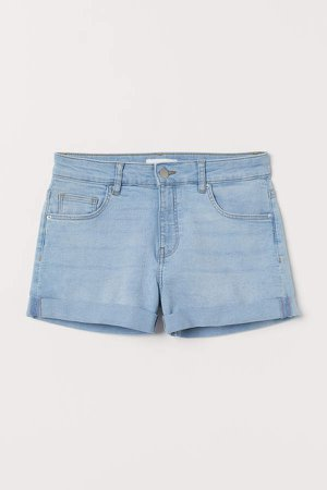 Short Denim Shorts - Blue