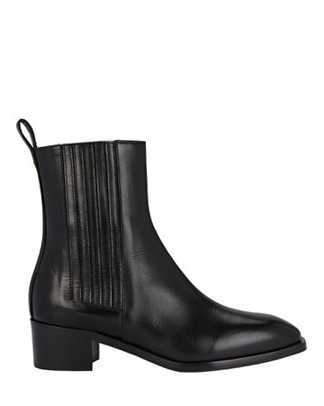 Aeyde Neil Leather Ankle Booties   INTERMIX®