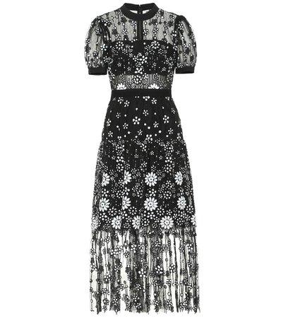 Sequined Tulle Dress - Self-Portrait | Mytheresa