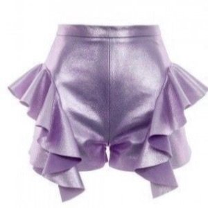 purple tulle shorts