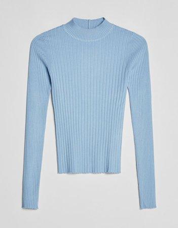 High neck sweater - Sweaters and cardigans - Woman   Bershka