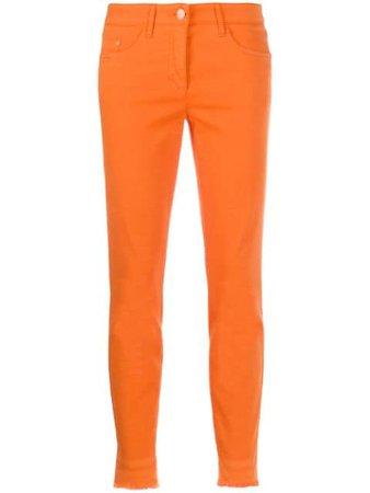 Luisa Cerano Cropped Slim-Fit Trousers 6181321883 Orange | Farfetch
