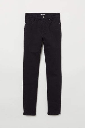 Super Slim-fit Pants - Black