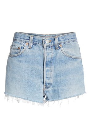 Re/Done The Short Denim Shorts | Nordstrom
