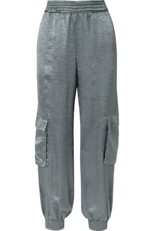 Sally LaPointe | Crinkled-satin track pants | NET-A-PORTER.COM