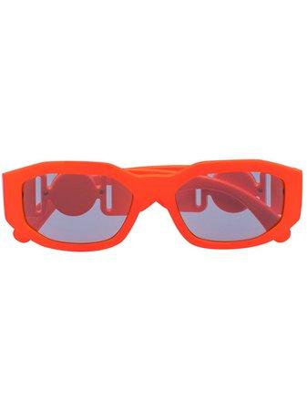 Versace Eyewear Rektangulära Solglasögon Med Medusa - Farfetch