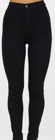 black skinny jeans    prettylittlething