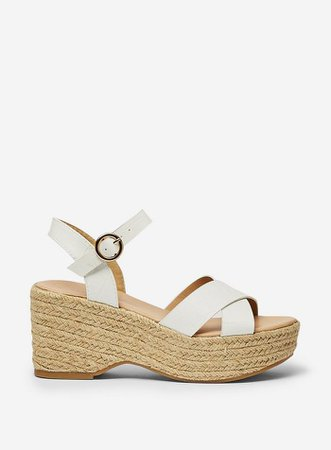 White 'Rumba' Flatform Wedge Sandals | Dorothy Perkins
