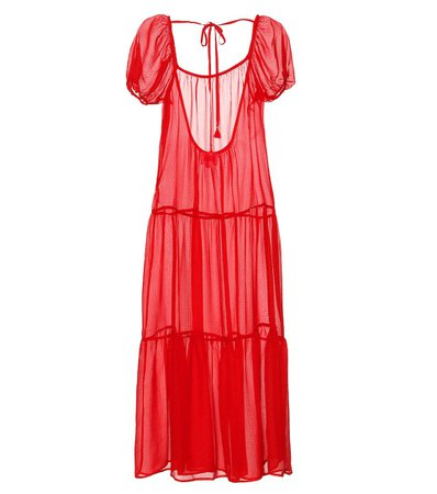 Solid & Striped - Sheer midi dress | Mytheresa