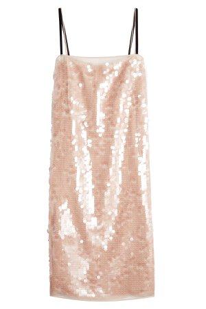 Sequin-Embellished Silk Dress Gr. IT 40