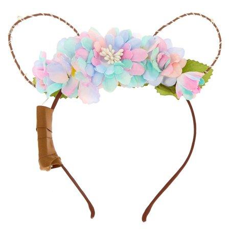 Light Up Bear Flower Crown Headband