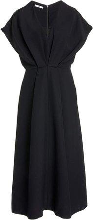 Co Pleated Cady Midi Dress