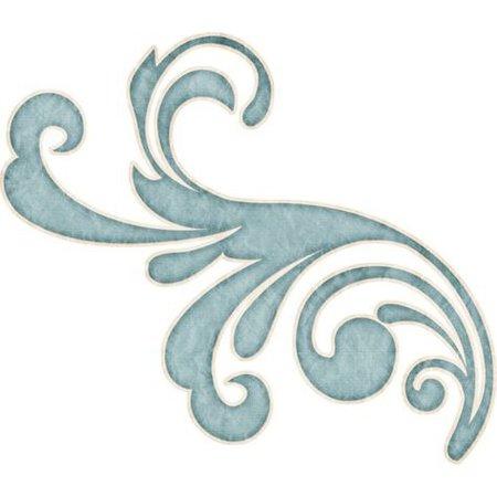 blue art filler png swirl