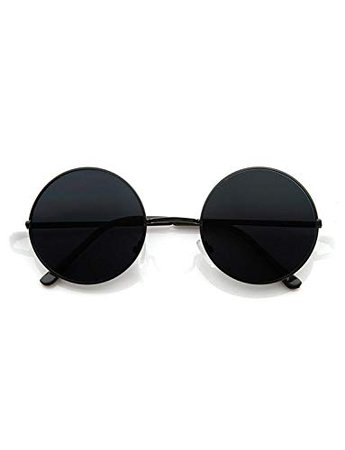 Hipe Black Round Sunglasses For Men And Women: Amazon.in: Clothing & Accessories