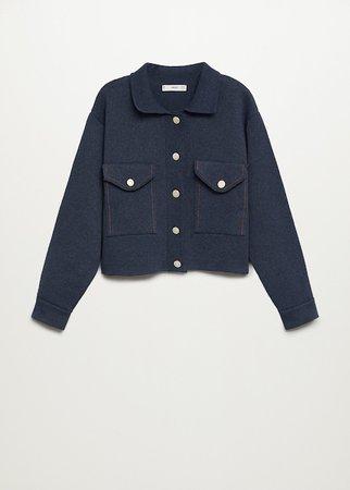 Pocket cotton cardigan - Women | Mango USA