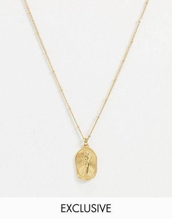 Reclaimed Vintage inspired 14k Goddess of love necklace | ASOS
