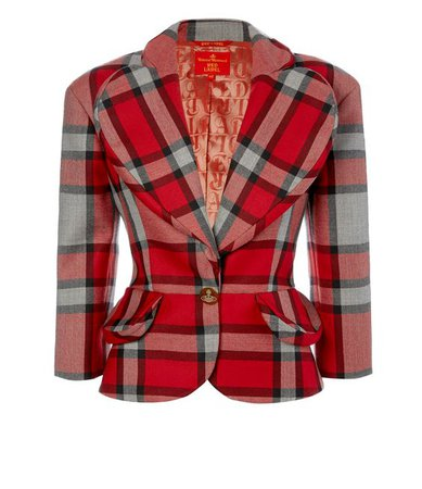 vivienne westwood plaid\ cool wool tartan jacket