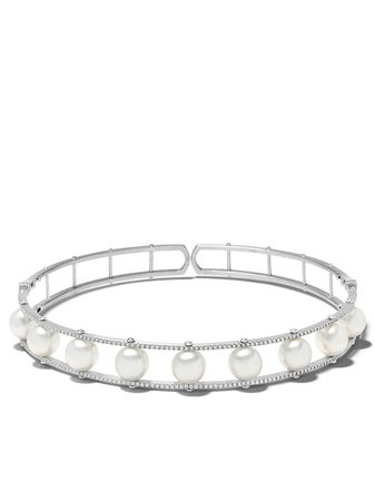 Yoko London 18kt White Gold Mayfair South Sea Pearl And Diamond Necklace | Farfetch.com