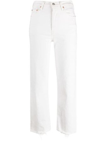 Shop Levi's high-rise straight-leg trousers with Express Delivery - FARFETCH