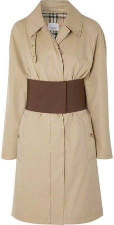 Belted Cotton-gabardine Trench Coat - Beige