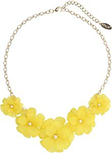 Amazon.com: Bocar Newest Acrylic Pendant Collar Flower Statement Choker Necklace for Women (NK-10241-yellow): Clothing