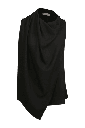 Amora scarf satin black blouse