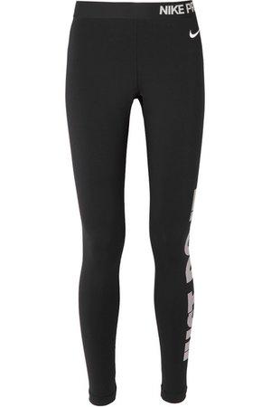 NIKE Pro Warm printed Dri-FIT stretch leggings