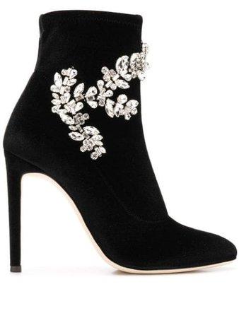 Giuseppe Zanotti Celeste Velvet Boots Aw18