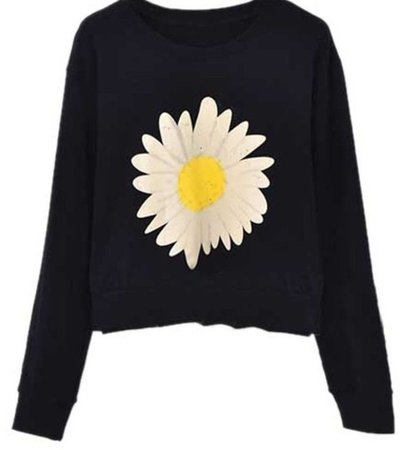 black sweater with daisy