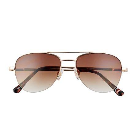 Women's Apt. 9® Petite Semi-Rimless Metal Aviator Sunglasses